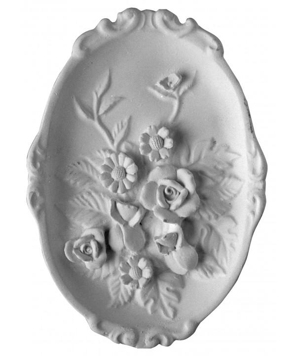 Stampo in gomma piatto di fiori Pr 70 cm.17