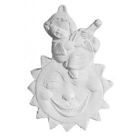 Stampo in gomma per il gesso Bambina sul sole P 227 cm. 8