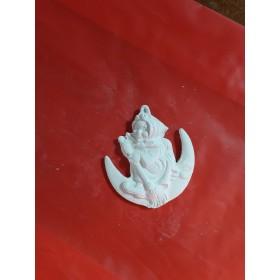 Stampo in gomma per gesso Befana sulla luna P 228 cm.7