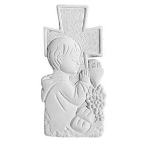 Stampo in gomma per il gesso Bambino che prega P234 cm. 7.5