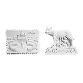 Stampi in gomma per gesso e ceramica San Pietro e Lupa Pr243 cm. 4.8 cad.