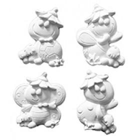 Stampi per gessetti profumati animaletti Pr247 cm. 4.5 cad.