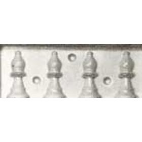 Stampo in plastica per cioccolata Scacchi Alfiere
