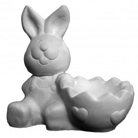 Stampo in gomma per il gesso di un coniglietto porta uovo T 263