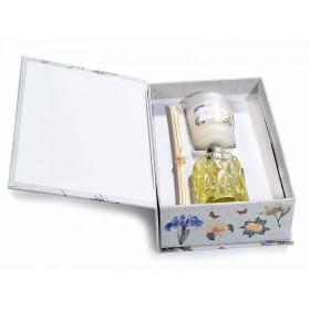 Confezione candela profumata e profumatore 50ml con stick 14.12.33
