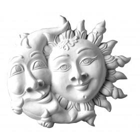 Stampo in gomma sole e luna Pr 163 cm.26