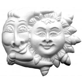 Stampo in gomma sole e luna Pr 169 cm.12.5
