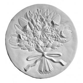 Stampo in gomma quadro con fiori Pr 209