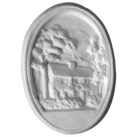 Stampo in gomma casa Pr 4 cm.12