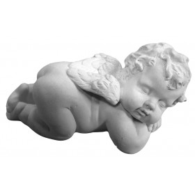 Stampo in gomma per il gesso angelo che dorme con ali T 248