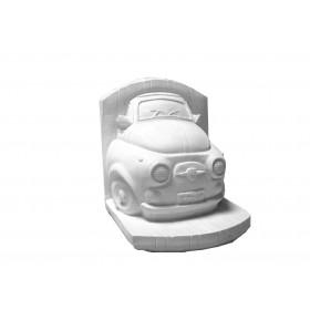 Stampo in gomma per il gesso di una 500 a forma di fermalibro T 268 di cm. 12*10
